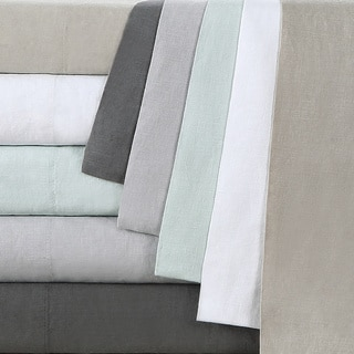Echelon Home Washed Belgian Linen Shower Curtain
