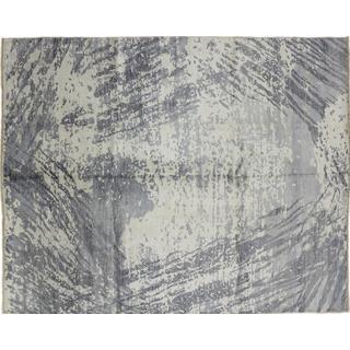 Super Fine Oushak Nurik Grey Hand-knotted Rug (8'0 x 10'0)