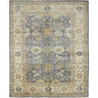 Fine Oushak Baxrom Grey Hand-knotted Rug (8'3 x 9'10)