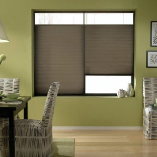 Espresso 25 to 25.5-inch Wide Cordless Top Down Bottom Up Cellular Shades