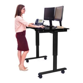 Offex Stande 48-inch Home Office Electric Standing Desk - Black Frame