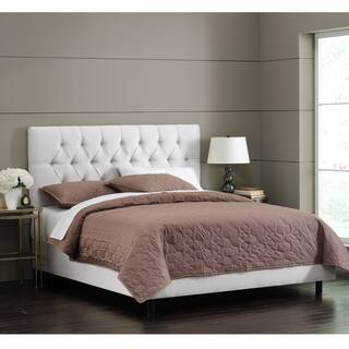 White Velvet Tufted Bed by Skyline Furniture|https://ak1.ostkcdn.com/images/products/11467591/P18424199.jpg?impolicy=medium