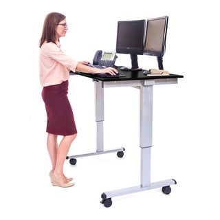 Offex Stande 48-inch Home Office Electric Standing Desk - Silver Frame