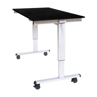 Offex Stande 60-inch Home Office Electric Standing Desk - Silver Frame