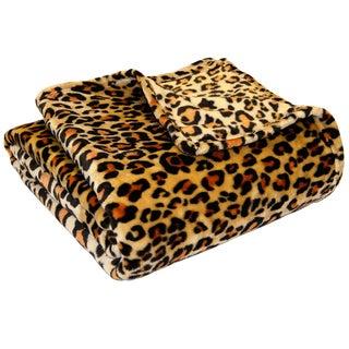 Premium Luxury Ultra-Soft Microplush Bed Blanket (Option: Twin - Twin XL - Leopard)