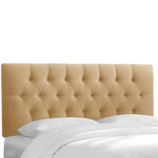 Skyline Furniture Honey Velvet Tufted Headboard