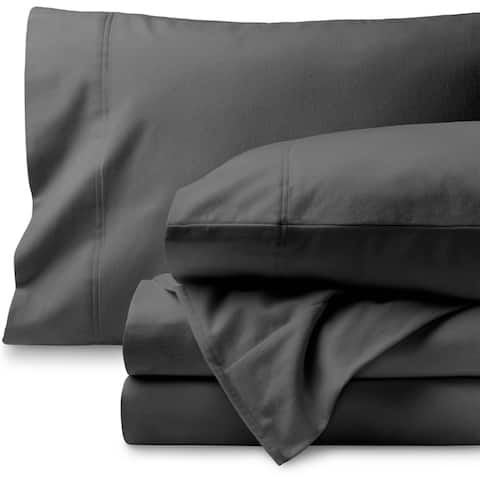 100% Cotton Velvet Flannel Sheet Set - Extra Soft Heavyweight - Double Brushed Flannel - Deep Pocket