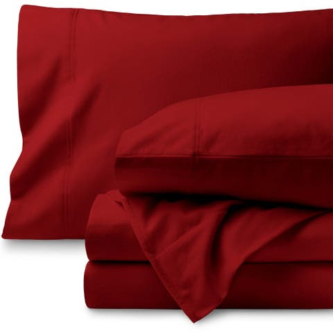 One Hundred Percent Cotton Velvet Flannel Bed Sheet Set - Extra Soft Heavyweight - Double Brushed Flannel - Deep Pocket