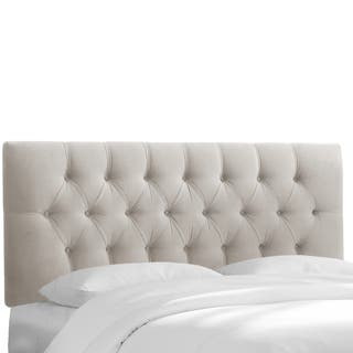 Light Grey Velvet Tufted Headboard- Skyline Furniture|https://ak1.ostkcdn.com/images/products/11467630/P18424228.jpg?impolicy=medium