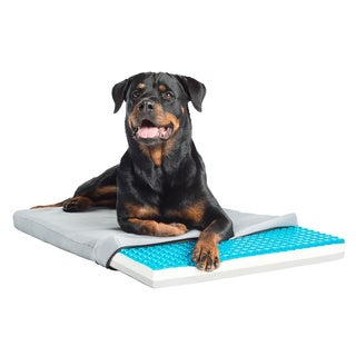 Pet Therapeutics TheraCool Gel Cell Cooling Pet Pad with Tri Core Charcoal-Infused Memory Foam