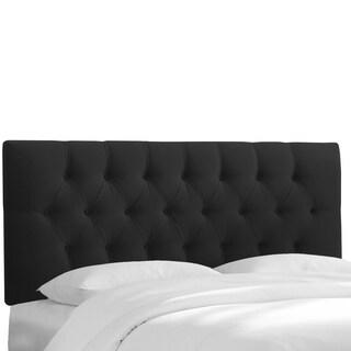 Skyline Furniture Black Velvet Tufted Headboard