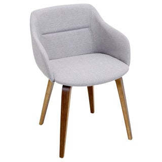 Campania Mid-Century Modern Chair in Walnut Wood by LumiSource