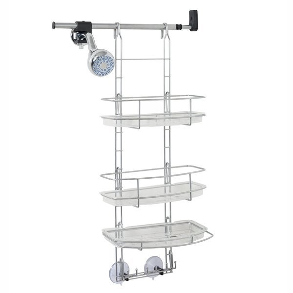 Make-A-Space Silver Stainless Steel Shower Caddy