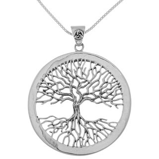 Sterling Silver Large Celtic Tree of Life Pendant