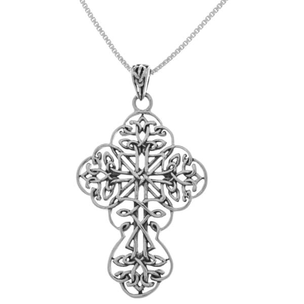 Shop Sterling Silver Large Filigree Ornate Victorian Cross