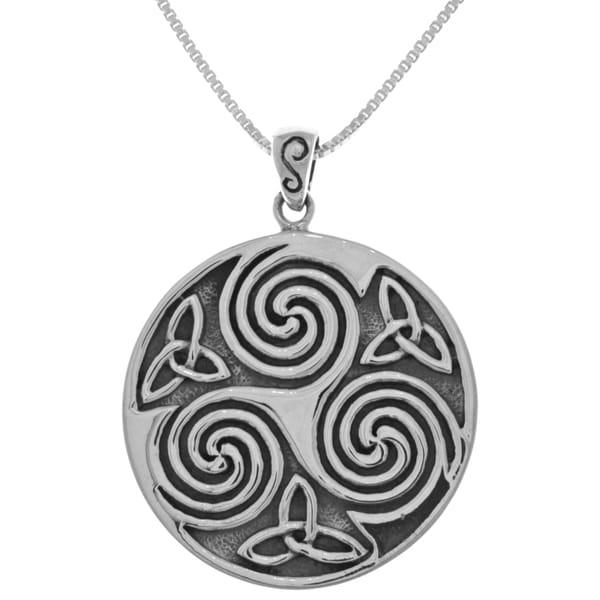 Shop Sterling Silver Large Celtic Triskelion Trinity Knot