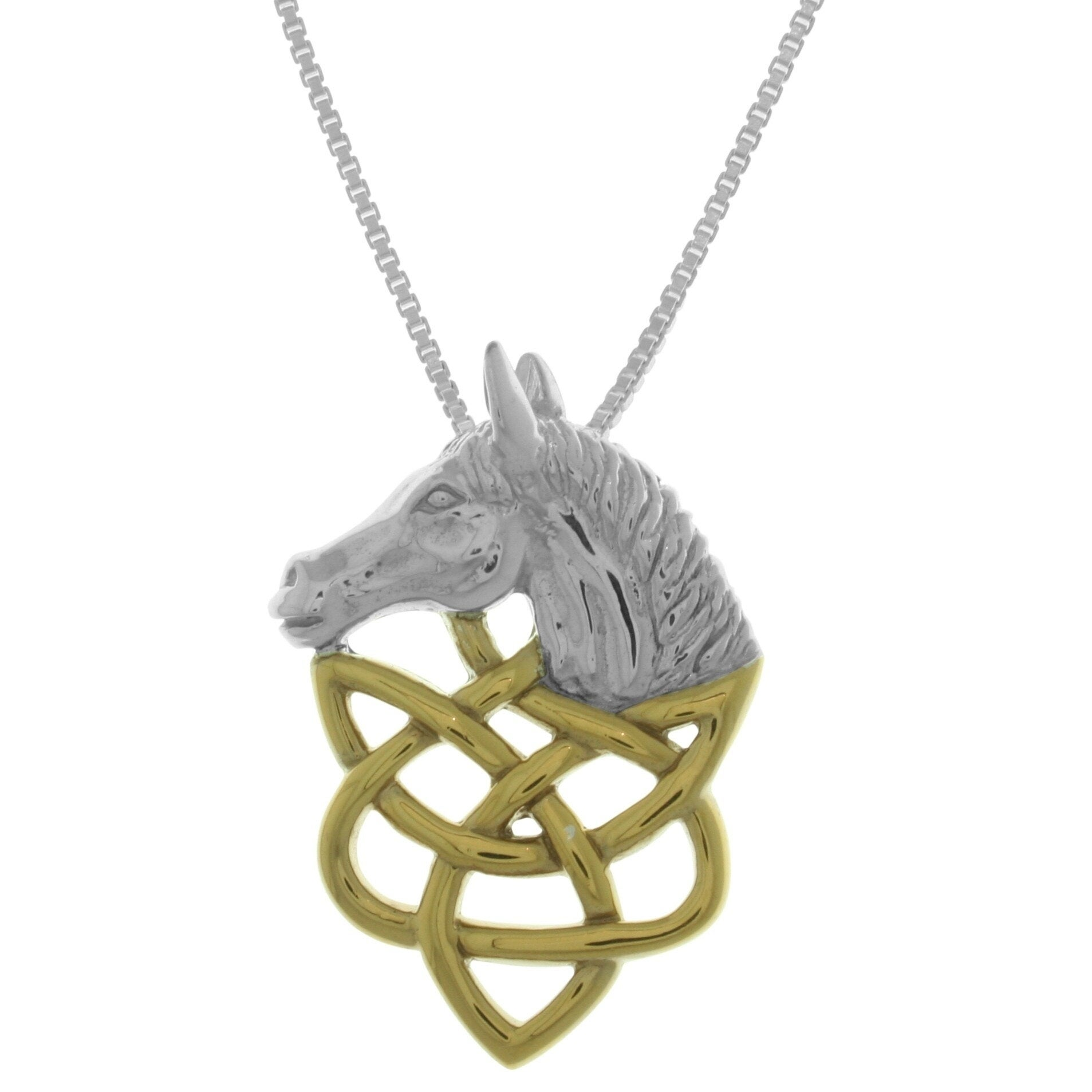 Carolina Glamour Collection Sterling Silver Horse Head Pe...