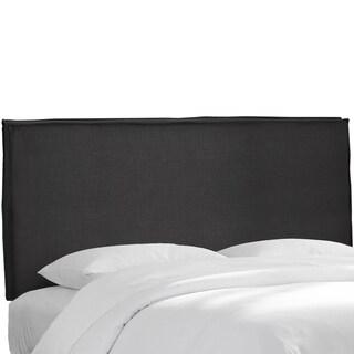 Skyline Furniture Black Linen Slipcover Headboard