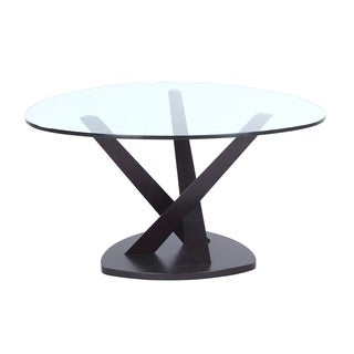 Split Wood and Glass Coffee Table