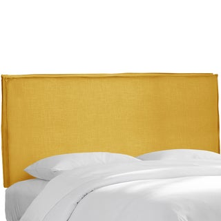 Skyline Furniture French Yellow Linen Slipcover Headboard