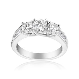 Andrew Charles 14k White Gold 1 1/2ct TDW 3-stone Diamond Ring