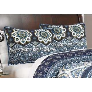 Greenland Home Fashions Medina Indigo Pillow Sham Set