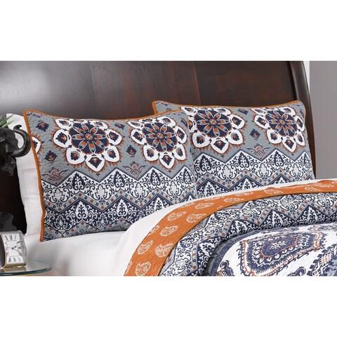Greenland Home Fashions Medina Saffron Pillow Sham Set