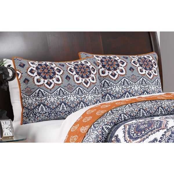Greenland Home Fashions  Medina Saffron Pillow Sham Set