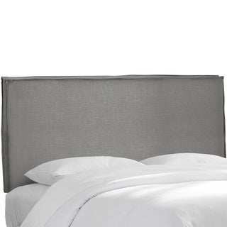 Skyline Furniture Grey Linen Slipcover Headboard
