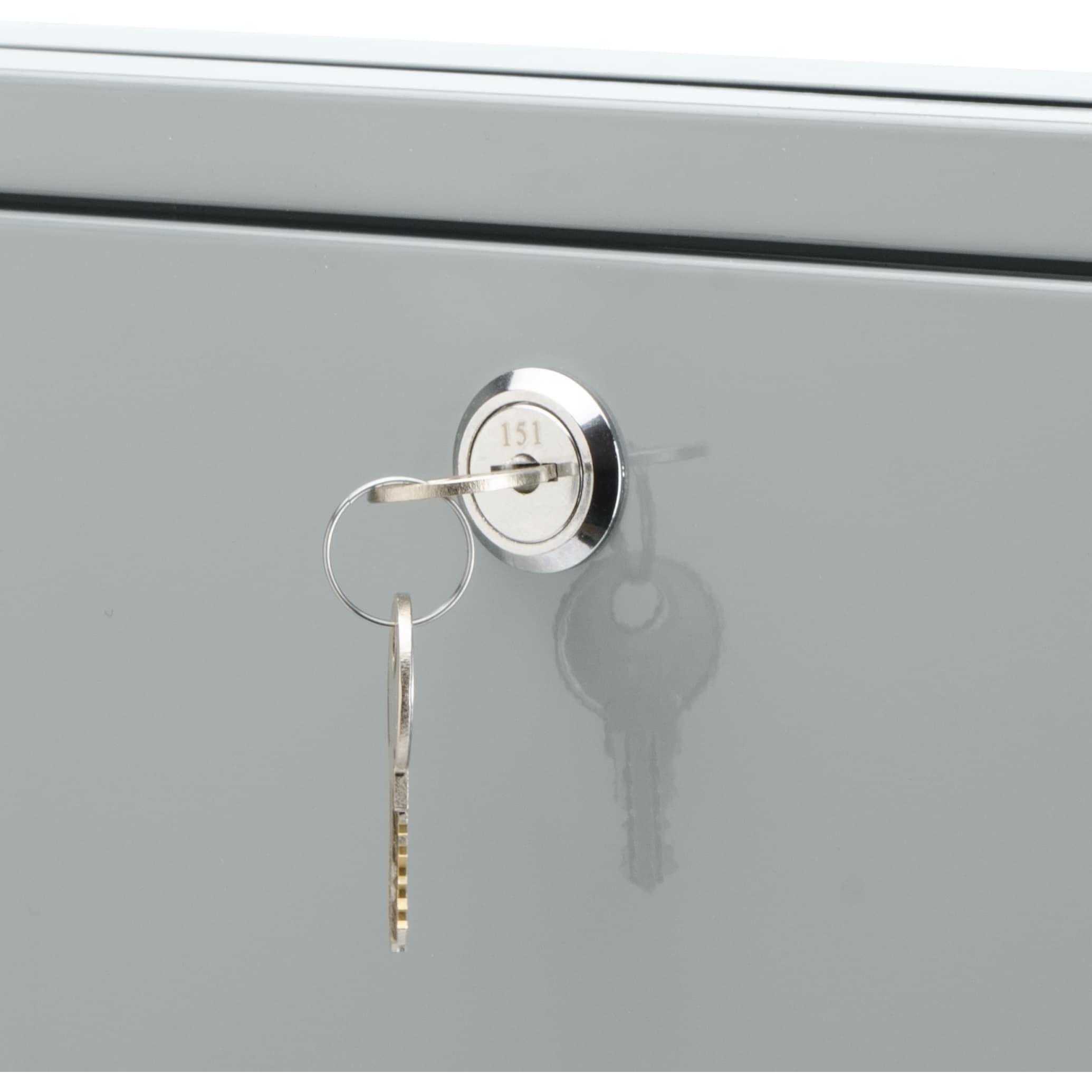 Barska Optics Large Multi-Purpose Drop Box, Grey metal (S...