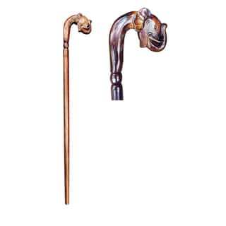 Handmade D-Art Elephant Decorative Walking Stick (Indonesia)|https://ak1.ostkcdn.com/images/products/11467777/P18424348.jpg?impolicy=medium