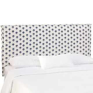 Skyline Furniture Hand Flora Indigo Slipcover Headboard
