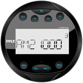 Pyle PLMR91UB Waterproof Bluetooth Marine Digital Media Receiver Stereo Radio