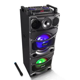 Pyle PSUFM1038BT Bluetooth PA Loudspeaker Karaoke Entertainment System|https://ak1.ostkcdn.com/images/products/11467796/P18424357.jpg?impolicy=medium