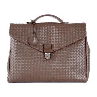 Bottega Veneta Woven Leather Business Bag