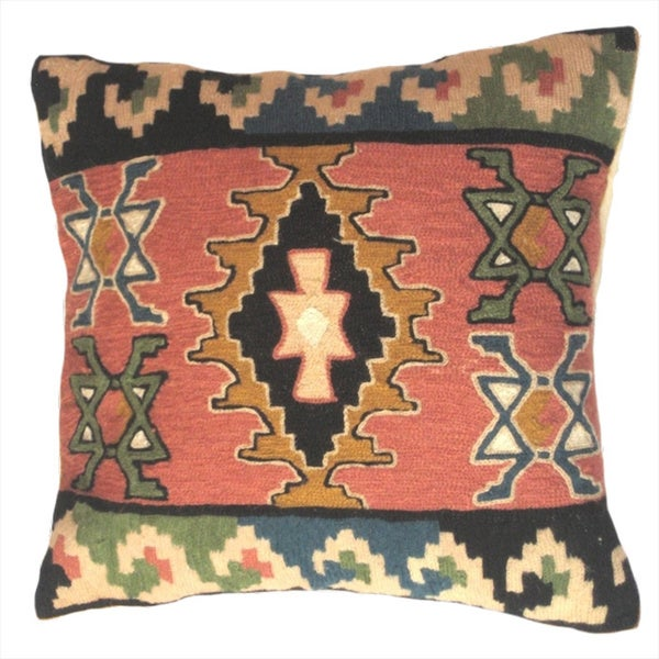 Kilim Wool Chainstitch Pillow Cover India Free Shipping Today