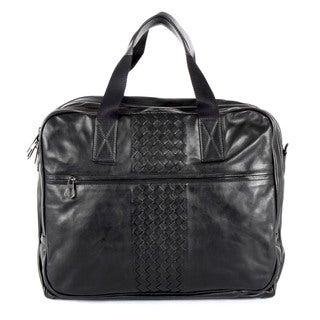 Bottega Veneta Black Leather Business Bag