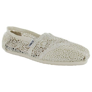 Toms Women's Classic Crochet Slip On Alpargata Shoes (2 options available)