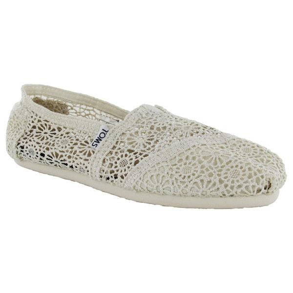 7ed4e17e294 Shop Toms Women s Classic Crochet Slip On Alpargata Shoes - Free ...