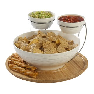 Double Chip and Dip Serving Set