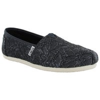 Toms Women S Lace Glitz Slip On Alpargata Flat Shoes