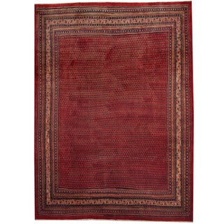 Herat Oriental Persian Hand-knotted 1960s Semi-antique Mir Wool Rug (8'10 x 12')