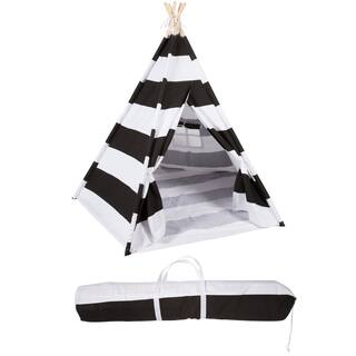 Trademark Innovations Playful Stripes 6-foot Canvas Teepee with Carry Case https://ak1.ostkcdn.com/images/products/11467897/P18424445.jpg?impolicy=medium