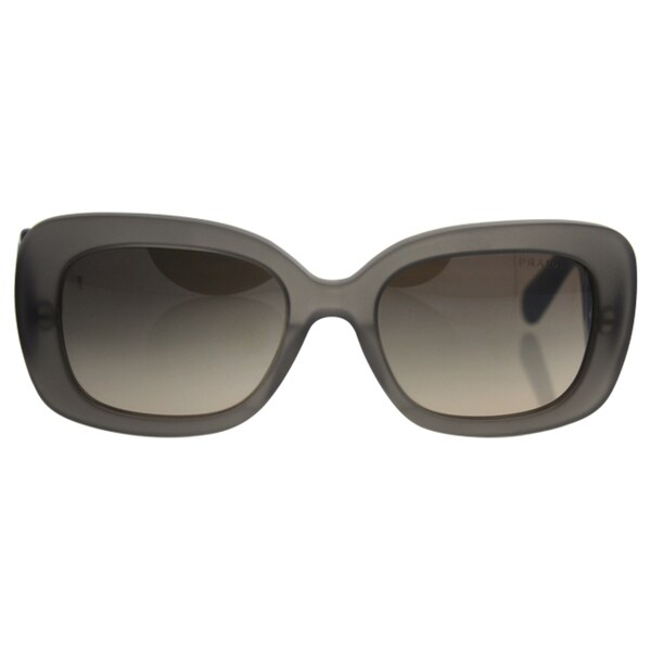 9a3be29c99a53 Prada Womens PR 27OS UBV4P0 Matte Grey Transparent Rectangle Plastic Minimal -Baroque Edition Sunglasses