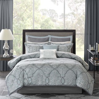 Madison Park Anouk Jacquard 12-Piece Bed in a Bag Set (As Is Item)