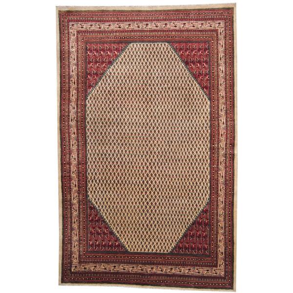 Handmade Herat Oriental Persian 1960s Semi-antique Mir Wool Rug (Iran) - 7'5 x 11'6