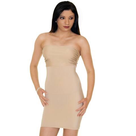 Instantfigure Apparel Strapless Bandeau Slimming Dress