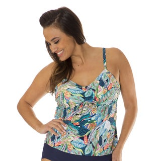 Mazu Swim Leaf Play Women's Plus Size Tankini