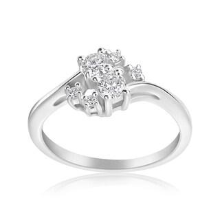 Andrew Charles 14k White Gold 1/3ct TDW 2-stone Forever Ring