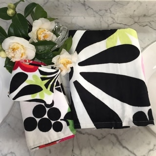 French Bull Oui MG Black Floral 3-piece Towel Set